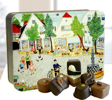 """Präsentdose """"Marktplatz im Sommer"""""""